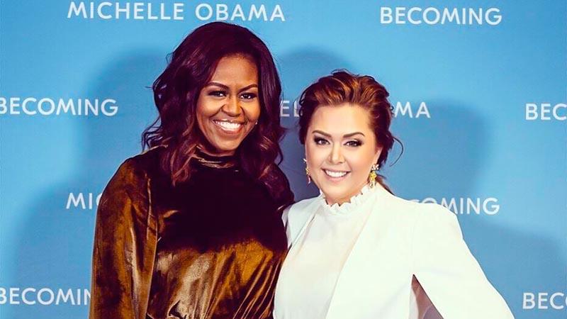 Michelle Obama & Viktoria Tocca